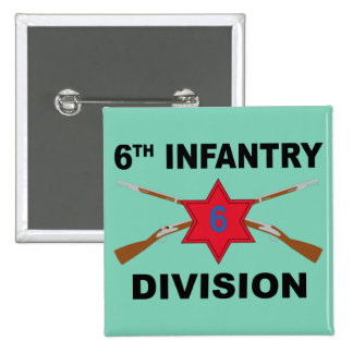 6th Infantry Division - Crossed Rifles - With Text Button