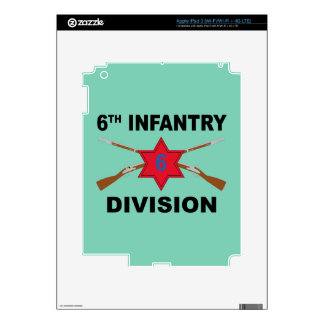 6th Infantry Division - Crossed Rifles - With Text Decals For iPad 3