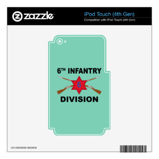 6th Infantry Division - Crossed Rifles - With Text iPod Touch 4G Skin
