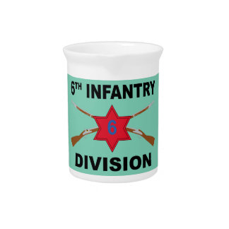 6th Infantry Division - Crossed Rifles - With Text Pitcher