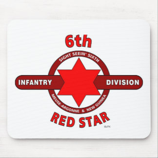 """6TH INFANTRY DIVISION """"RED STAR"""" WW I & WW II MOUSE PAD"""
