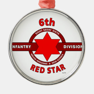 """6TH INFANTRY DIVISION """"RED STAR"""" WW I & WW II ORNAMENTS"""