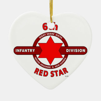 """6TH INFANTRY DIVISION """"RED STAR"""" WW I & WW II ORNAMENT"""