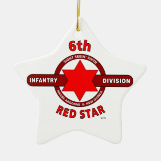 """6TH INFANTRY DIVISION """"RED STAR"""" WW I & WW II CHRISTMAS ORNAMENTS"""