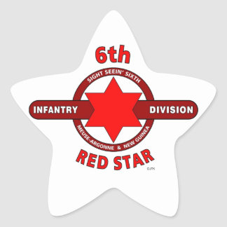 """6TH INFANTRY DIVISION """"RED STAR"""" WW I & WW II STICKERS"""
