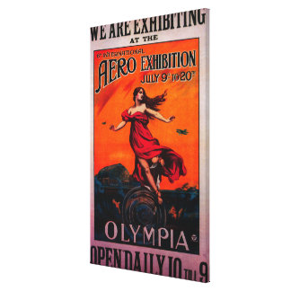 6th International Aero Expo Vintage Poster Canvas Print