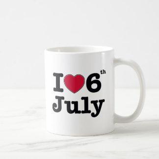 6th july my day of birthday coffee mug