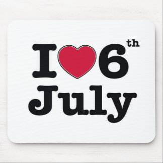 6th july my day of birthday mouse pad