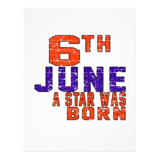 6th June a star was born Letterhead