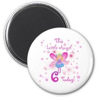 6th Little Angel Birthday Fridge Magnet