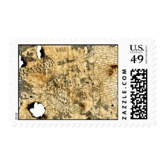 6th Map of the Forgotten Realm Postage Stamp