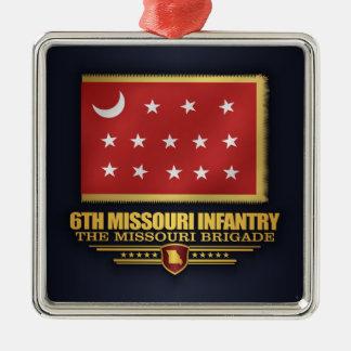 6th Missouri Infantry (v10) Metal Ornament