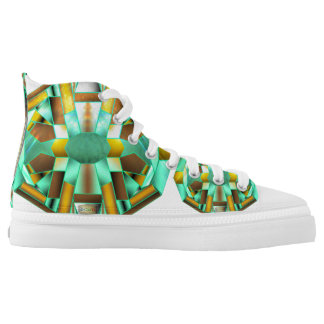 6th Pattern; Compass Floor Emblem High-Top Sneakers