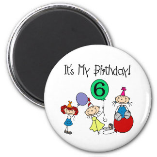 6th Stick Kids Party Magnet