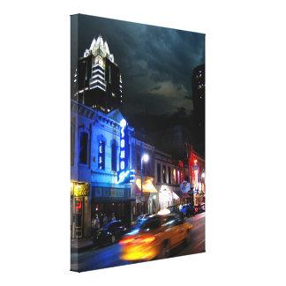 6th Street Downtown Austin Texas Canvas Print