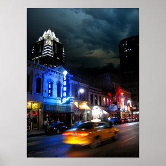 6th Street Downtown Austin Texas Poster