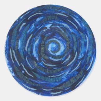 6th-Third Eye Chakra Indigo Spiral Artwork #2 Classic Round Sticker
