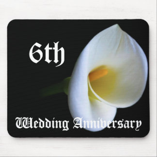 6th wedding anniversary - Lily Mouse Pad
