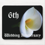 6th wedding anniversary - Lily Mouse Pads