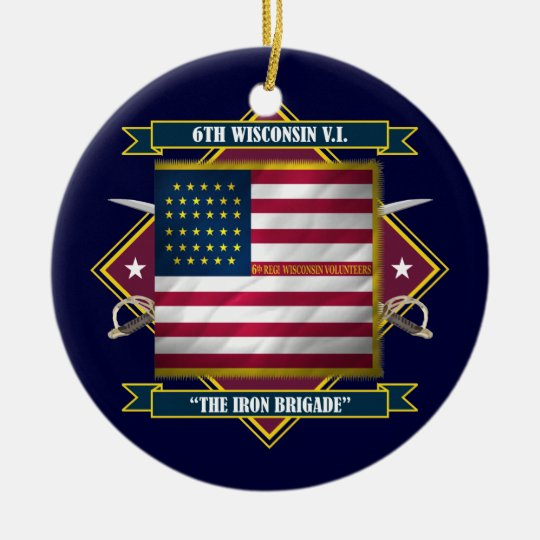 6th Wisconsin Infantry Ceramic Ornament