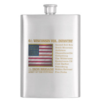 6th Wisconsin Volunteer Infantry (BH) Flask