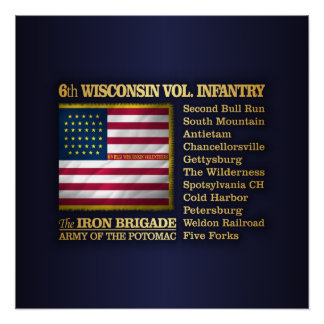 6th Wisconsin Volunteer Infantry (BH) Poster