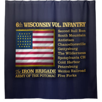 6th Wisconsin Volunteer Infantry (BH) Shower Curtain