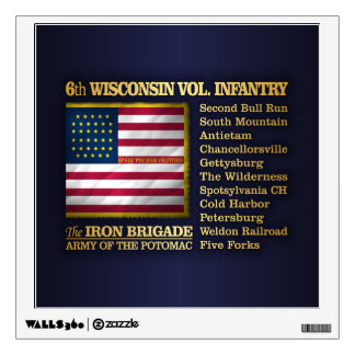 6th Wisconsin Volunteer Infantry (BH) Wall Sticker
