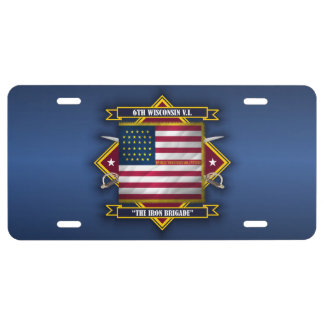 6th Wisconsin Volunteer Infantry License Plate