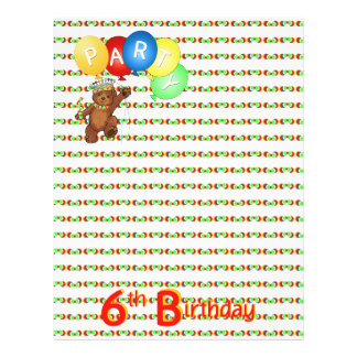 6thBirthday Party Royal Bear Scrapbook  Paper 3 Personalized Flyer