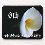 6to aniversario de boda - lirio alfombrillas de ratones
