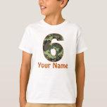 6to Camisa personalizada cumpleaños de Camo