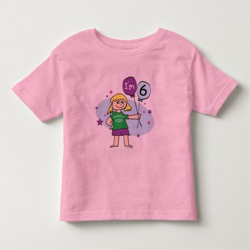 6to Camiseta del cumpleaños Camisas