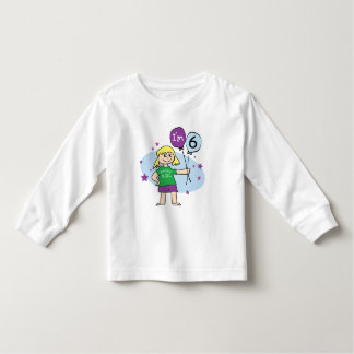 6to Camiseta del cumpleaños Playera