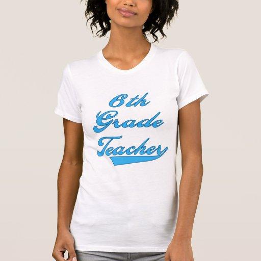 6to Camisetas y regalos azules del profesor del