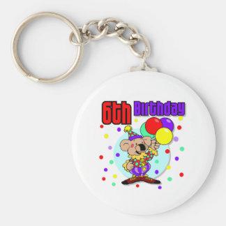 6to Cumpleaños de Australia del cumpleaños Llavero Redondo Tipo Pin
