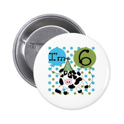 6to cumpleaños de la vaca azul pin