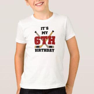 6to cumpleaños del hockey playera