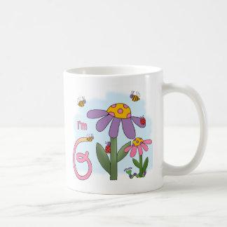 6to cumpleaños del jardín tonto taza de café