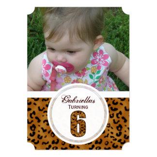 6to cumpleaños del leopardo: Imagen: Invitación
