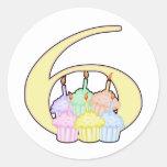 6to Cumpleaños Etiqueta Redonda