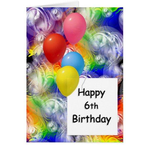 6to cumpleaños feliz tarjetas