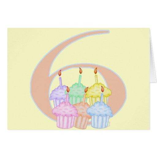 6to Cumpleaños Tarjeta De Felicitación