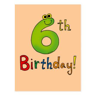 6to ¡Cumpleaños! Tarjetas Postales