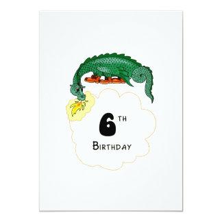 """6to Dragón del cumpleaños Invitación 5"""" X 7"""""""