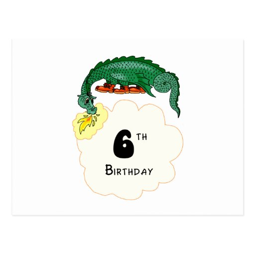 6to Dragón del cumpleaños Postales