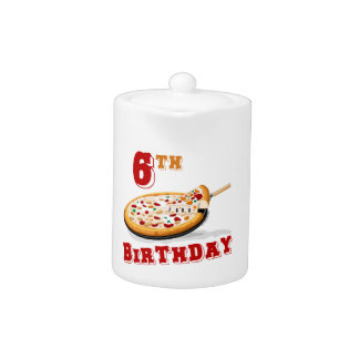 6to Fiesta de la pizza del cumpleaños