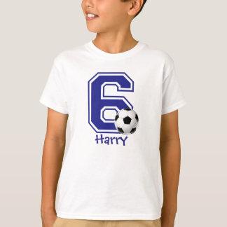 6to Fútbol del muchacho del cumpleaños Remeras