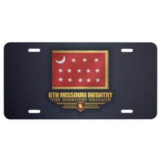 6to Infantería de Missouri (v10) Placa De Matrícula