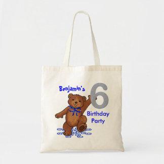 6to La fiesta de cumpleaños lleva Goodie Bolsa Tela Barata
